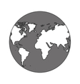 monochrome color of sphere planet earth vector image vector image