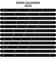 Moon calendar 2014 vector image