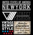 newyork typography t shirt design vector image vector image