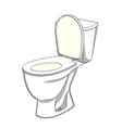 object on white background flush toilet wc color vector image