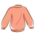 pink sweater on white background vector image