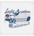 retro aviation grunge design with airplane and vector image vector image