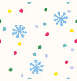retro funny pattern for holidays with snow vector image vector image