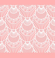 seamless decorative lace scales pattern on pink vector image vector image