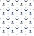 Seamless pattern with anchors and skulls vector image vector image