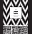 set abstract black and white zig-zag line vector image