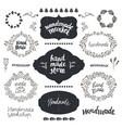 set hand drawn doodle frames badges vector image vector image