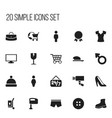set of 20 editable trade icons includes symbols vector image vector image