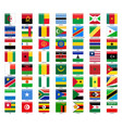 set of flags of all african countries glossy vector image