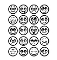 set of icons smiley faces vector image vector image