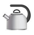 silver model kitchen kettle vector image