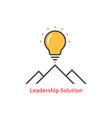 simple leadership solution logo vector image