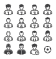 Soccer Player Icons vector image vector image