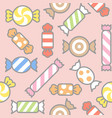 sweets candy filled outline seamless pattern vector image