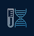 test tube with dna double helix colorful vector image