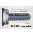 The Baggage carousel construction vector image vector image