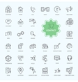 Thin Lines Icons of Contact vector image