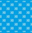 three tutorial pattern seamless blue vector image vector image