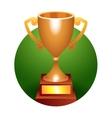 Trophy bronze cup vector image vector image
