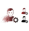 unhappy disappearing pixelated halftone user vector image vector image