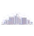urban landscape - modern thin line design style vector image vector image