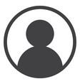 user portrait flat icon symbol vector image vector image