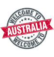 welcome to Australia red round vintage stamp vector image vector image