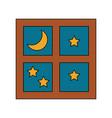 Window with starry night sky icon image