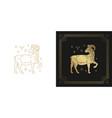 zodiac aries horoscope sign line art silhouette