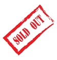 red stamp sold out vector image