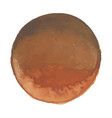 bright coffee brown watercolor banner blot vector image