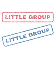 little group textile stamps vector image