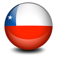 a soccer ball with flag chile vector image vector image