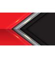 abstract black grey red arrow direction design vector image vector image