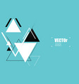 abstract blue geometric background with triangles vector image vector image