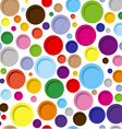 Abstract colorful circle geometric seamless vector image vector image