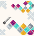 abstract colorful geometric square pattern vector image vector image