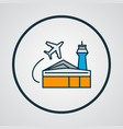 airport building icon colored line symbol premium vector image
