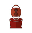 american football trophy with balloon icon vector image vector image