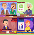 anchorman breaking news and tv vector image vector image