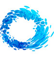 aqua circle splash element vector image vector image