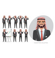 arab business man male in suit experiences vector image vector image