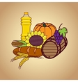 Autumn harvest food set vector image vector image