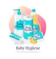 baby hygiene Newborn vector image