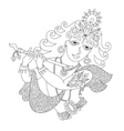 Black and white god lord Krishna for Janmashtami vector image