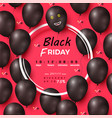 black friday discount poster vector image