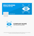 blue business logo template for business eye look vector image
