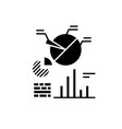 business analytics black icon sign on vector image