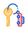 car keys icon outline vector image vector image