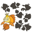 Cartoon goldfish vector image
